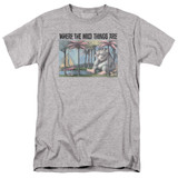 Where The Wild Things Are Cover Art S/S Adult 18/1 T-Shirt Athletic Heather
