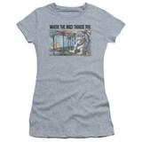 Where The Wild Things Are Cover Art S/S Junior Women's T-Shirt Sheer Athletic Heather