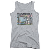 Where The Wild Things Are Cover Art Junior Women's Tank Top Athletic Heather