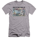 Where The Wild Things Are Cover Art Premium S/S Adult 30/1 T-Shirt Athletic Heather