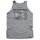 Where The Wild Things Are Cover Art Adult Tank Top Athletic Heather
