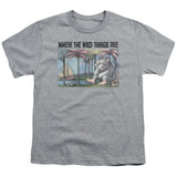 Where The Wild Things Are Cover Art S/S Youth 18/1 T-Shirt Athletic Heather