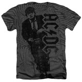 AC/DC Angus Adult Sublimated Heather T-Shirt Charcoal
