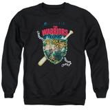 The Warriors Shield Adult Crewneck T-Shirt Sweatshirt Black