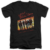 The Warriors One Gang S/S Adult V Neck T-Shirt Black