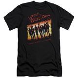 The Warriors One Gang Premium Canvas Adult Slim Fit 30/1 T-Shirt Black