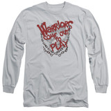 The Warriors Come Out And Play Long Sleeve Adult 18/1 T-Shirt Silver