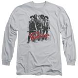 The Warriors Gang Long Sleeve Adult 18/1 T-Shirt Silver