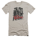 The Warriors Gang Premium Canvas Adult Slim Fit 30/1 T-Shirt Silver