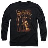 The Warriors 9 Warriors Long Sleeve Adult 18/1 T-Shirt Black