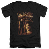 The Warriors 9 Warriors S/S Adult V Neck T-Shirt Black