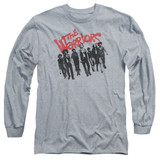 The Warriors The Gang Long Sleeve Adult 18/1 T-Shirt Athletic Heather