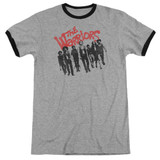 The Warriors The Gang Adult Ringer T-Shirt Heather/Black