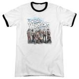 The Warriors Amusement Adult Ringer T-Shirt White/Black