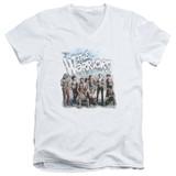 The Warriors Amusement S/S Adult V Neck T-Shirt White