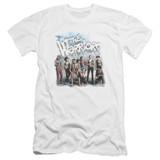 The Warriors Amusement Premium Canvas Adult Slim Fit 30/1 T-Shirt White