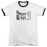 The Warriors Rolling Deep Adult Ringer T-Shirt White/Black