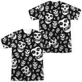 Misfits Fiends All Over (Front/Back Print) Adult Sublimated Crew T-Shirt White
