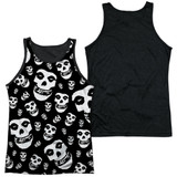 Misfits Fiends All Over Adult Sublimated Tank Top T-Shirt White/Black