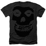 Misfits Black On Fiend Adult Sublimated Heather T-Shirt Black