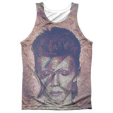 David Bowie Glam Adult Sublimated Tank Top T-Shirt White