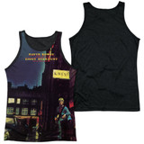 David Bowie Ziggy Star Dust Adult Sublimated Tank Top T-Shirt White/Black