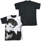 David Bowie Hero Adult Sublimated T-Shirt White/Black