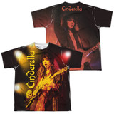 Cinderella Live Show (Front/Back Print) Youth Sublimated Crew T-Shirt White