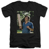 Dazed and Confused Obannion S/S Adult V-Neck 30/1 T-Shirt Black