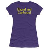 Dazed and Confused Dazed Logo S/S Junior Women's T-Shirt Sheer Purple