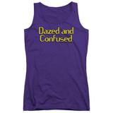 Dazed and Confused Dazed Logo Junior Women's Tank Top Purple
