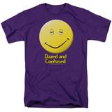 Dazed and Confused Dazed Smile S/S Adult 18/1 T-Shirt Purple
