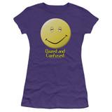 Dazed and Confused Dazed Smile S/S Junior Women's T-Shirt Sheer Purple