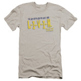 Dazed and Confused Livin Premium Canvas Adult Slim Fit 30/1 T-Shirt Silver