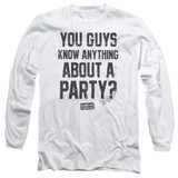 Dazed and Confused Party Time Long Sleeve Adult 18/1 T-Shirt White