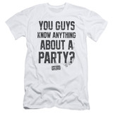 Dazed and Confused Party Time S/S Adult 30/1 T-Shirt White