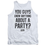 Dazed and Confused Party Time Adult Tank Top White