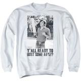 Dazed and Confused Paddle Adult Crewneck Sweatshirt White