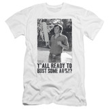 Dazed and Confused Paddle Premium Canvas Adult Slim Fit 30/1 T-Shirt White