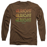 Dazed and Confused Alright Z Long Sleeve Adult 18/1 T-Shirt Coffee