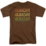 Dazed and Confused Alright Z S/S Adult 18/1 T-Shirt Coffee