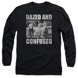 Dazed and Confused Rock On Long Sleeve Adult 18/1 T-Shirt Black