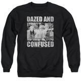 Dazed and Confused Rock On Adult Crewneck Sweatshirt Black
