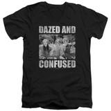 Dazed and Confused Rock On S/S Adult V-Neck 30/1 T-Shirt Black