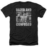 Dazed and Confused Rock On Adult T-Shirt Heather Black
