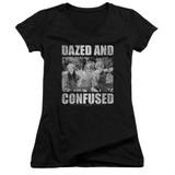 Dazed and Confused Rock On Junior Women's T-Shirt V-Neck Black