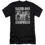 Dazed and Confused Rock On Premium Canvas Adult Slim Fit 30/1 T-Shirt Black