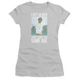 Dazed and Confused I Get Older S/S Junior Women's T-Shirt Sheer Silver