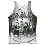 Def Leppard The Band Adult Sublimated Tank Top T-Shirt White