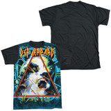 Def Leppard Hysteria Adult Sublimated T-Shirt White/Black